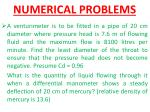 numerical problems1