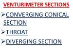 venturimeter sections