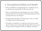 1 occupational safety and health