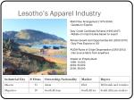 lesotho s apparel industry