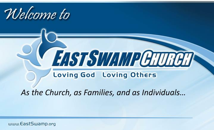 as the church as families and as individuals n.