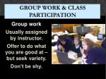 group work class participation