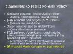 challenges to fdr s foreign policy