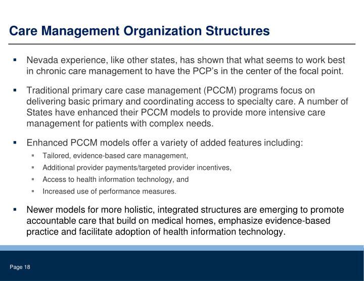 Care Management Organization Structures