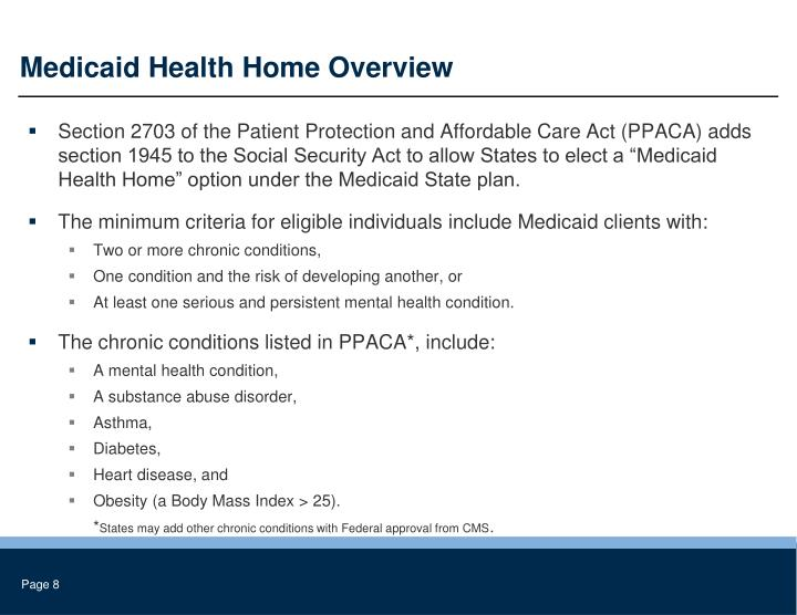 Medicaid Health Home Overview