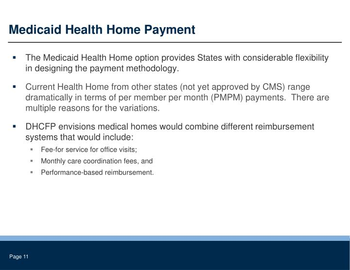 Medicaid Health Home Payment