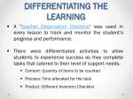 differentiating the learning1