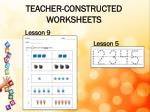 teacher constructed worksheets