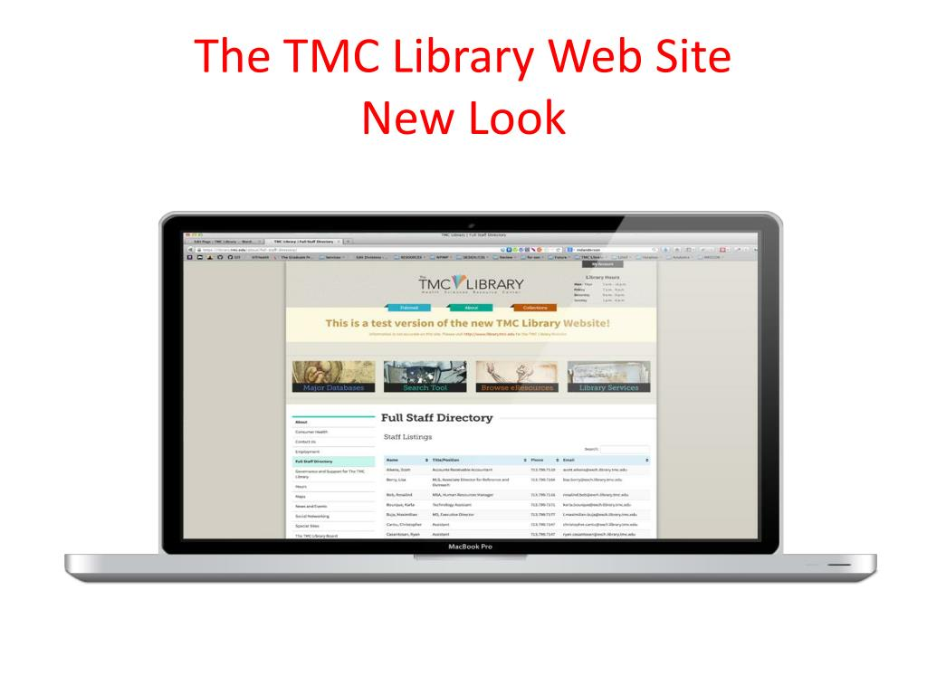 PPT - The Texas Medical Center Library: Resources and