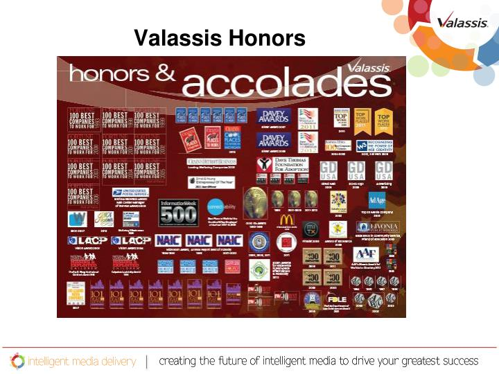 Valassis Honors