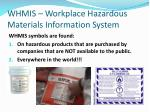 whmis workplace hazardous materials information system