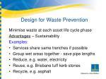 design for waste prevention