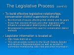 the legislative process cont d