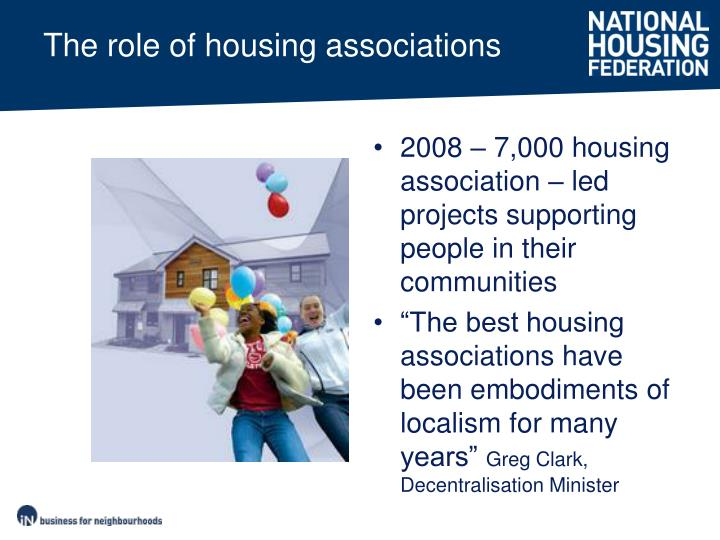 The role of housing associations