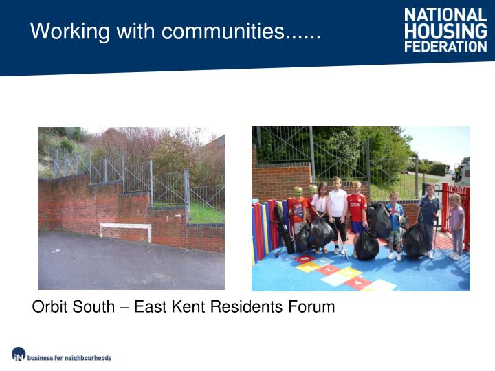 Working with communities......