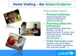 home visiting the global evidence