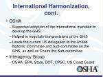 international harmonization cont