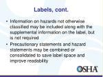 labels cont