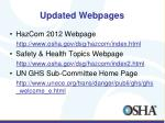 updated webpages