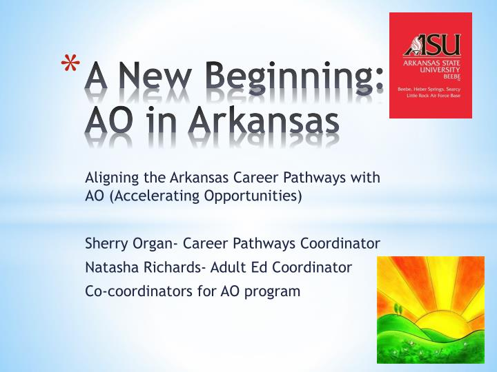 a new beginning ao in arkansas n.
