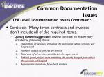 common documentation issues1