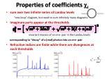 properties of coefficients c i