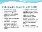 inclusion for students with adhd
