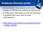 telephone directory cont