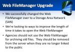 web filemanager upgrade