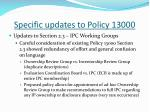 specific updates to policy 130002
