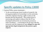 specific updates to policy 130004