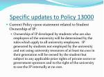 specific updates to policy 130006