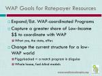 wap goals for ratepayer resources