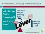 weatherization leveraging partnerships project