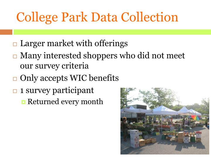 College Park Data Collection