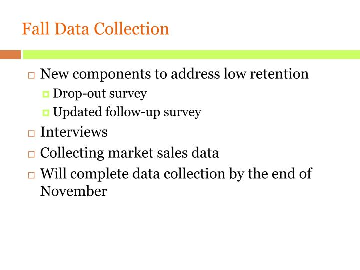 Fall Data Collection