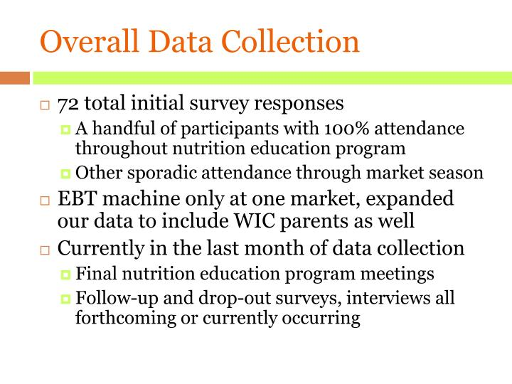 Overall Data Collection