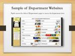 sample of department websites