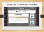 sample of department websites1