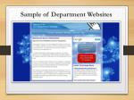 sample of department websites4