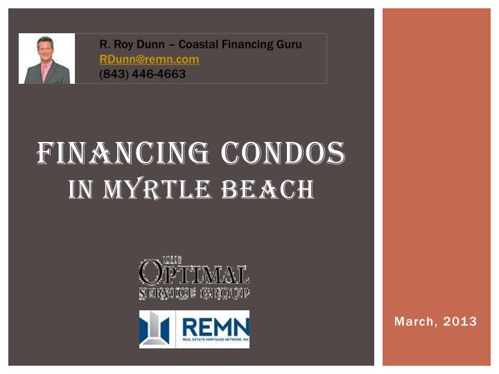 financing condos in myrtle beach n.