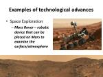examples of technological advances1