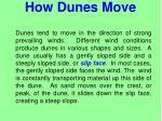 how dunes move