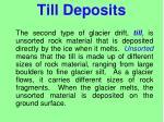 till deposits