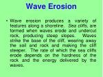wave erosion