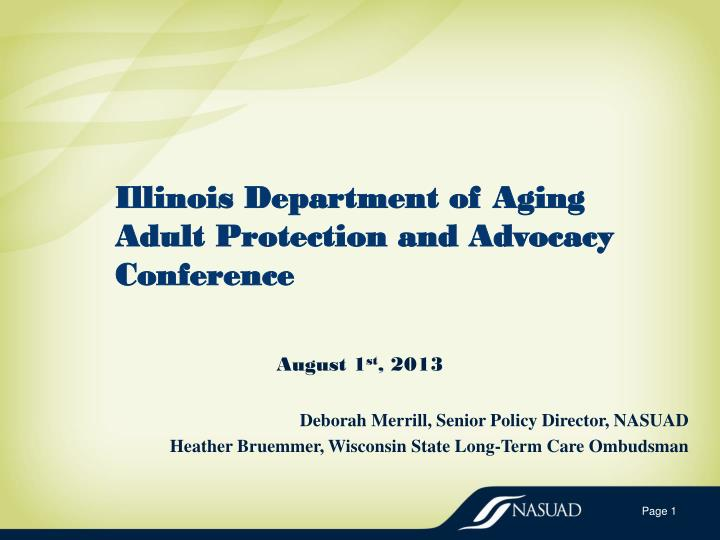 illinois department of aging adult protection and advocacy conference n.
