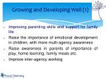 growing and developing well 1