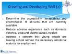 growing and developing well 2