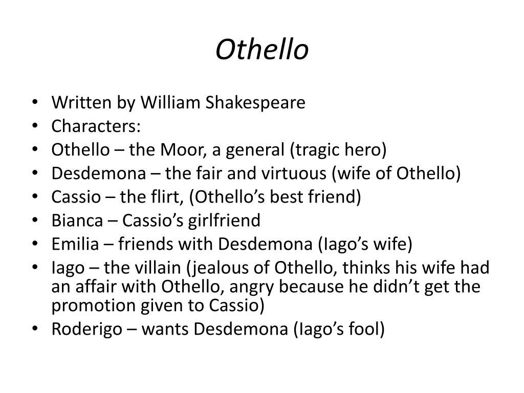 PPT - Othello and Frankenstein PowerPoint Presentation - ID