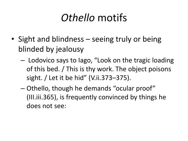 motifs in othello
